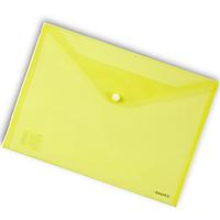 Папка-конверт на кнопке А4 Axent 1402 прозрачная Желтый