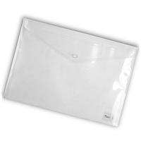 Папка-конверт на кнопке А4 Axent 1402 прозрачная Прозрачный
