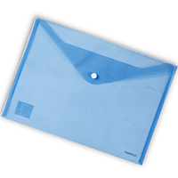 Папка-конверт на кнопке А4 Axent 1402 прозрачная Синий