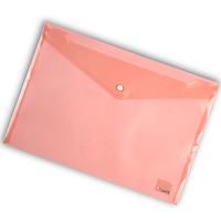 Папка-конверт на кнопке А4 Axent 1402 прозрачная Красный