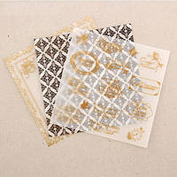 Набор кальки декоративной для скрапбукинга «От всей души», 3 листа, 14.5 х 14.5 см