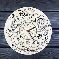 Детские настенные часы из дерева «Дональд Дак и Дейзи Дак», фото 1
