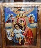 """Ікона писана Божої Матері """"Достойно Є"""" («Милуюча») в кіоті, фото 4"""