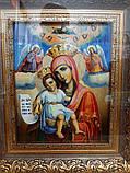 """Ікона писана Божої Матері """"Достойно Є"""" («Милуюча») в кіоті, фото 5"""