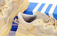 Мужские кроссовки Adidas Ozweego. Рефлектив. Beige бежевый.. ТОП Реплика ААА класса., фото 2