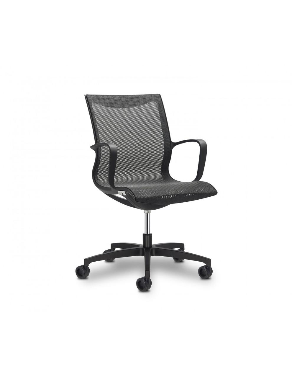 Кресло Soul Air Meeting Black для посетителя
