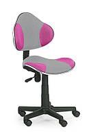 Кресло компьютерное FLASH 2 серый/розовый (Halmar)