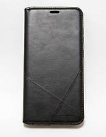 Чехол-книжка для смартфона Samsung Galaxy A6 Plus 2018 A605 чёрная MKA, фото 1