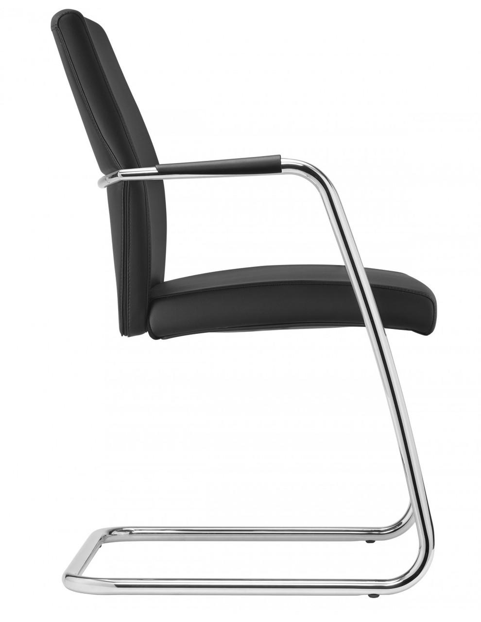 Кресло Passe-partout для посетителя, кожаное, с высокой  спинкой