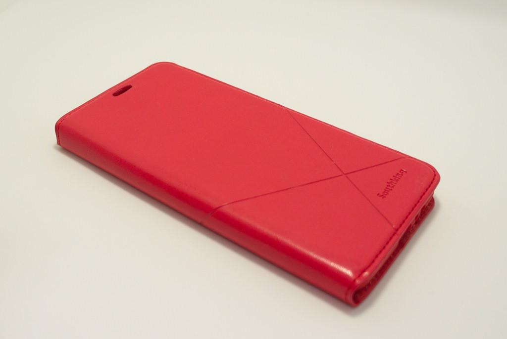 Чехол-книжка для смартфона Samsung Galaxy A8 Plus 2018 A730 красная MKA