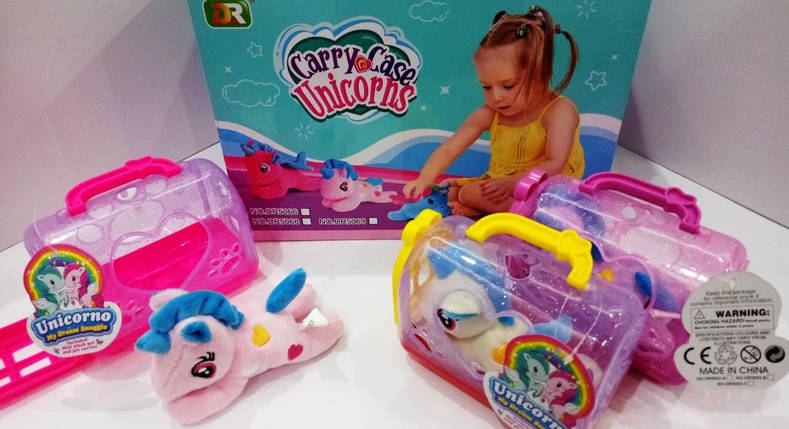 """Игрушка мягкая коллекционная """"Carry case Unicorne Pony"""" в домике, фото 2"""