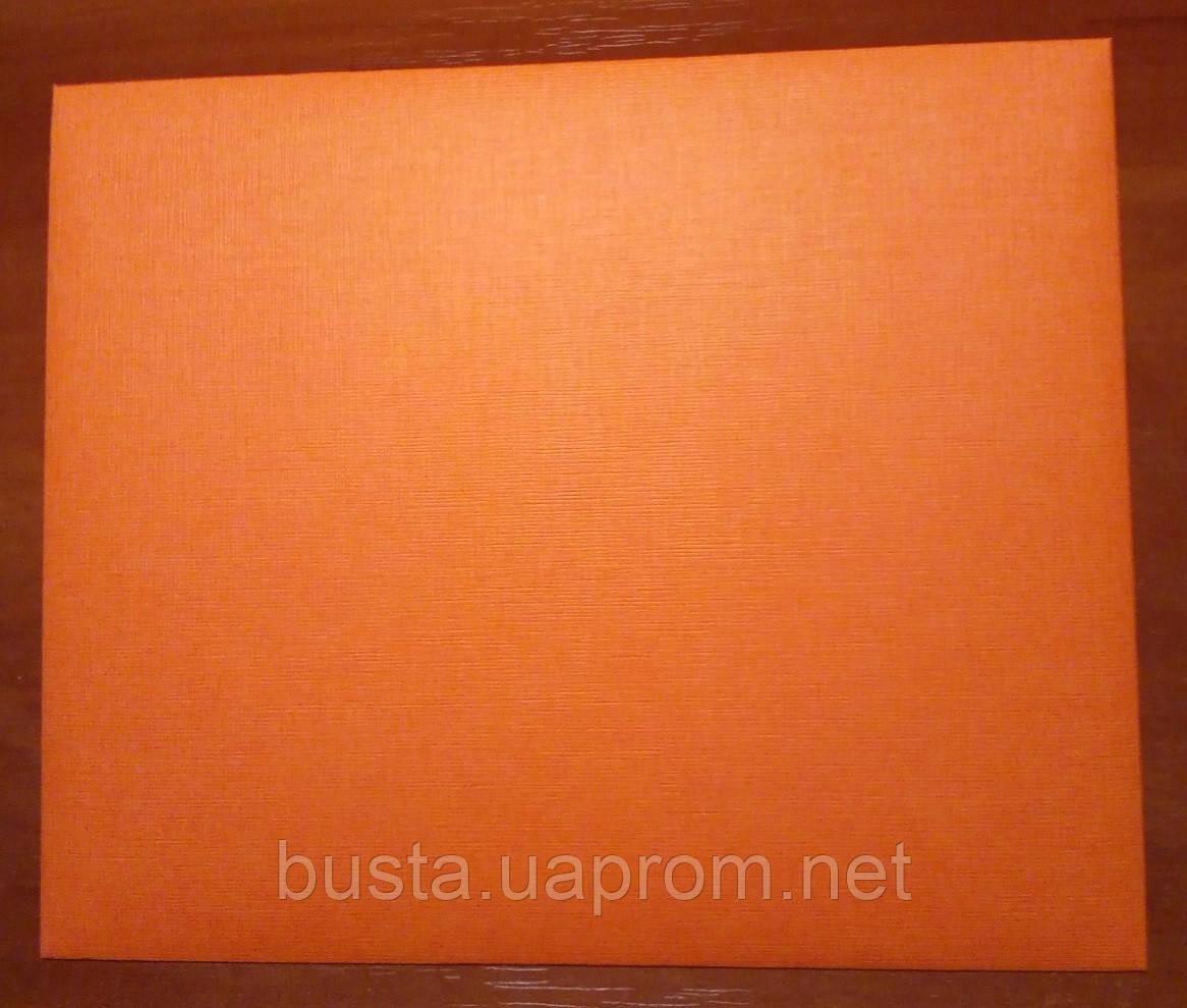 Конверт С6+ оранж 125гр лен