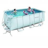 Каркасный прямоугольный бассейн, 201 см х 412 см х 122 см, Bestway 56241/56456 киев