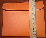 Конверт С6+ оранж 125гр лен, фото 2