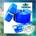 Магистральный шланг для капельного полива LayFlat Лейфлет стабилизированный VERESK Ø 100 мм, бухта 50м., фото 2