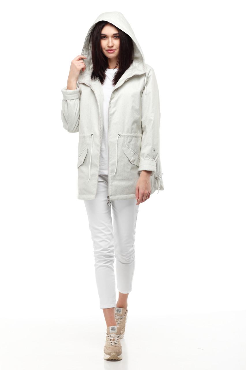 Непромокаемая ветровка светлая женская куртка, не продуваемая размер 42-50