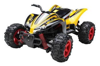 Машинка Subotech CoCo Квадроцикл 4WD на радиоуправлении, масштаб 1к24 35 км/час желтая - 139582