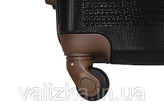 Валізу з протиударного пластику середнього розміру Fly-1101 на 4-х колесах чорного кольору., фото 3