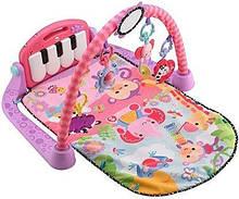 Fisher-Price развивающий коврик Kick and Play Piano Gym, розовый
