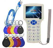 RFID дубликатор 125кГц, 250кГц, 500кГц, 375кГц, 625кГц, 750кГц, 875кГц, 1000кГц, 13,56МГц ISO1443A/B