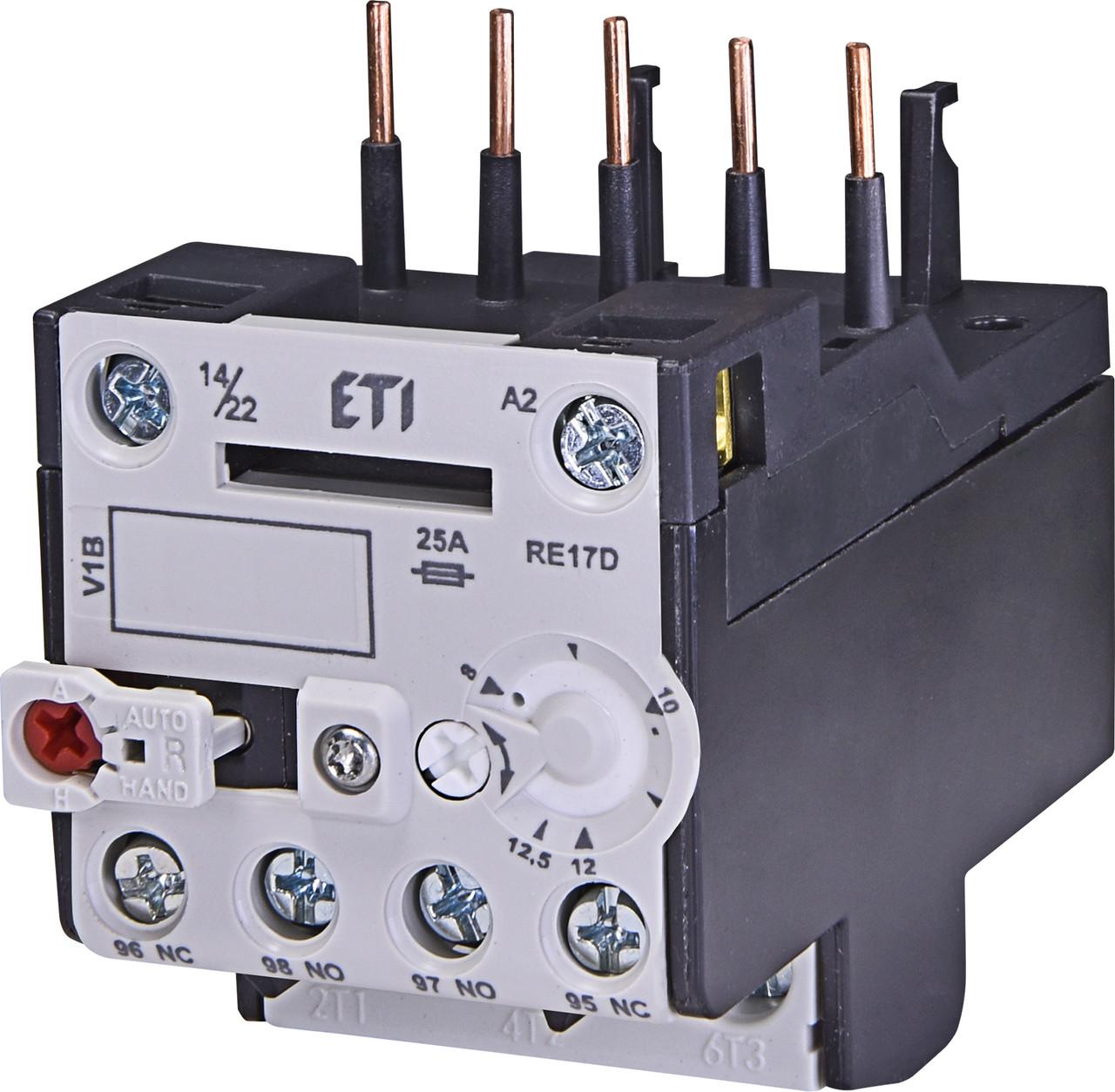Тепловое реле ETI RE 17D-12,5 (8-12,5A) CE07/CEC 4641410 (для контакторов)