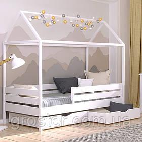 Детская деревянная кровать домик Амми из бука