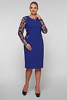 / Размер 48,50,52,54,56,58 / Женское нарядное платье Адель большого размера / цвет индиго