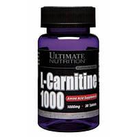 L-карнитин Ultimate Nutrition L-carnitine 1000 mg 30 таб