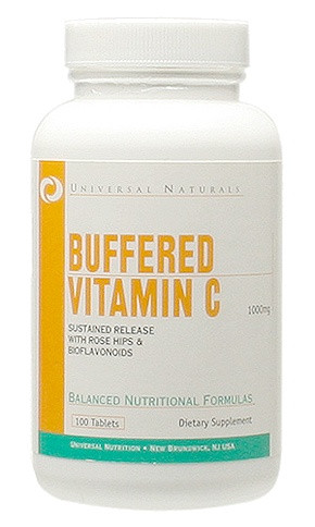 Витамин C Universal Nutrition Vitamin c buffered 100 таб