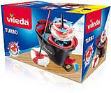 Набор для уборки Vileda Easywring & Clean Turbo (швабра и ведро с отжимом) (4023103194113), фото 3