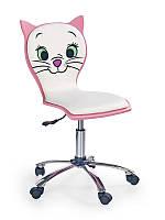 Крісло комп'ютерне KITTY 2 білий/рожевий (Halmar)