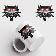 Чашка з принтом The Witcher. Відьмак. Чашка з фото