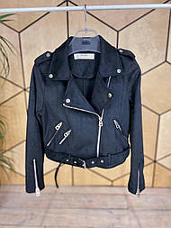 Жіноча стильна замшева куртка-косуха (2 кольори)