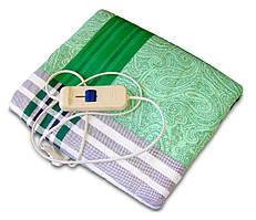 🔝 Простынь с подогревом, электрогрелка, 150x120 см. - Зеленая. Экономная электропростынь Трио | 🎁%🚚