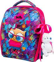 Школьный ранец для девочки Delune 7mini -015 (мешок для обуви, пенал, игрушка в подарок)
