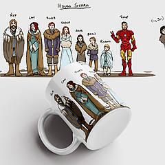Чашка з принтом House Stark. Гра Престолів. Game of Thrones. Чашка з фото