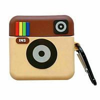 Чехол для наушников Apple AirPods Pro Alitek Инстаграм (Instagram) + карабин