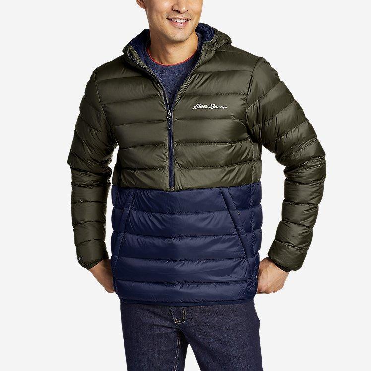 Мужской пуховый анорак Eddie Bauer Men's CirrusLite Down Pullover Dk Loden L