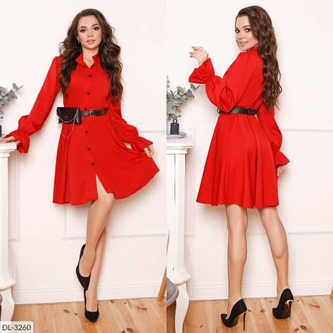 Стильне плаття, пояс з сумочкою в комплекті, червоне, №193, 42-46р., фото 2