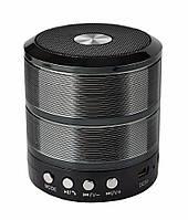 🔝 Портативная колонка, для телефона, WS-887 Mini Speaker, с флешкой и радио Чёрная  🎁%🚚