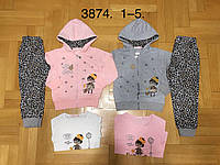 Спортивный костюм 3 в 1 для девочек оптом, F&D, 1-5 лет, № 3874, фото 1
