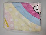 Одеяло плед махровый размер 100*140 см  арт 900  Зайка., фото 2