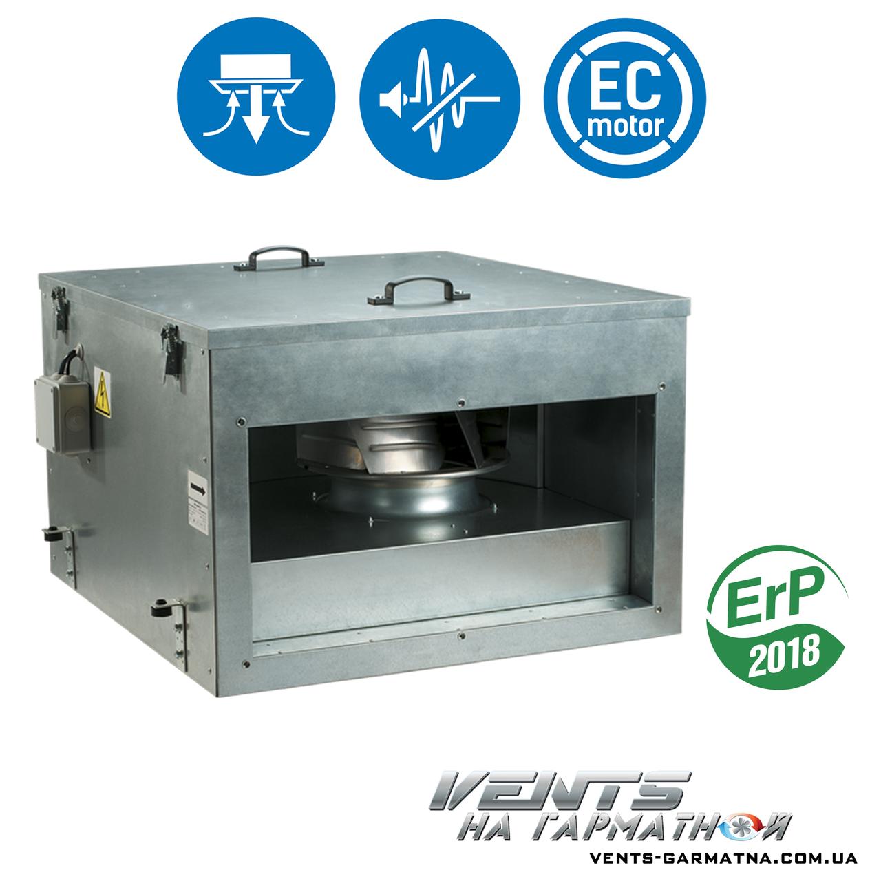 Вентс ВКПИ 600х350 ЕС. Канальный вентилятор в шумоизолированном корпусе с ЕС-мотором