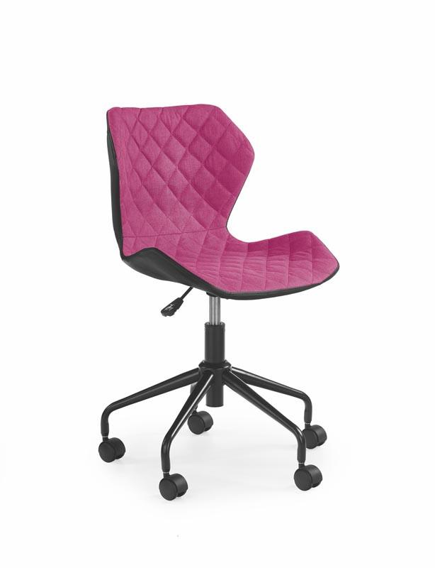 Кресло компьютерное MATRIX розовый/черный (Halmar)
