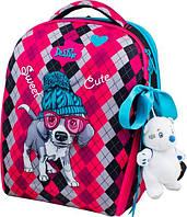 Школьный ранец для девочки Delune 7mini -018 (мешок для обуви, пенал, игрушка в подарок)