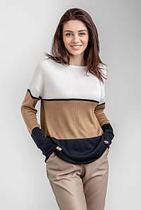 Легкий свитерок в полоску с 42 по 52 размеры