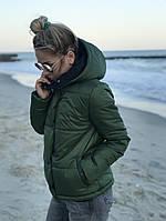 Весенняя куртка хаки цвета 42-44, 44-46 р.