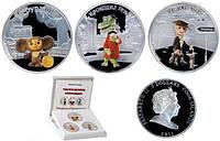 Набор серебряных монет Чебурашка и Крокодил Гена