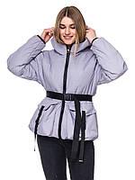 Женская куртка демисезонная «Джоан» (Серая | 42-44, 46-48, 50-52)
