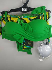 Купальник Банты с двумя плавками Sisianna 18114-1 зеленый на 42 44 46 48 50 размер